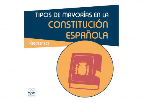 Tipos de mayorías Constitución española 1978 - OpoEsquemas