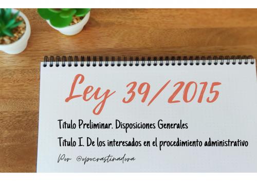 Ley 39/2015 Título Preliminar y Título I en esquemas